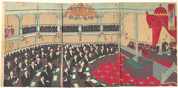 Illustration of The Imperial Assembly of the House of Peers (Teikoku gikai kizokuin no zu)