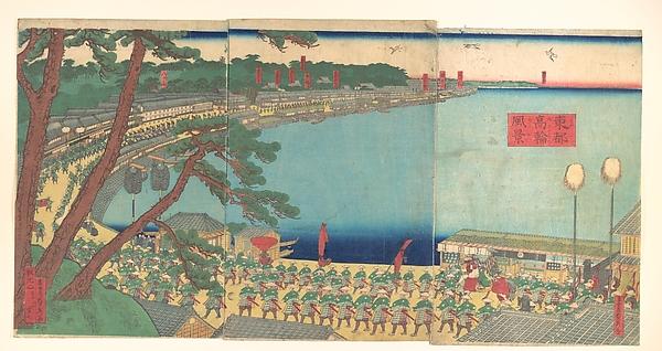 Daimyo's Processions Passing along the Tōkaidō
