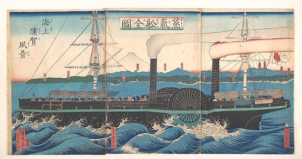 Jōkisen zenzu<br/>Complete Picture of a Steamship off Kanazawa