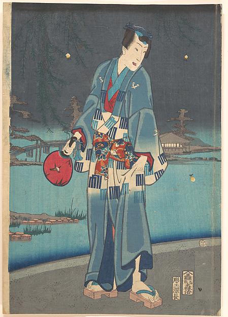 今様源氏紫絹蛍遊び<br/>Modern Genji – Firefly Viewing (Imayō genji shiken hotaru asobi)