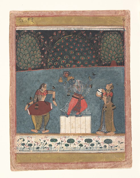 Vasant Ragini: Folio from a ragamala series (Garland of Musical Modes)
