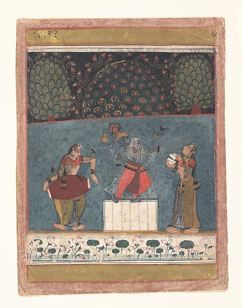 Vasant Ragini: Folio from a ragamala series (Garland of Musical Modes)