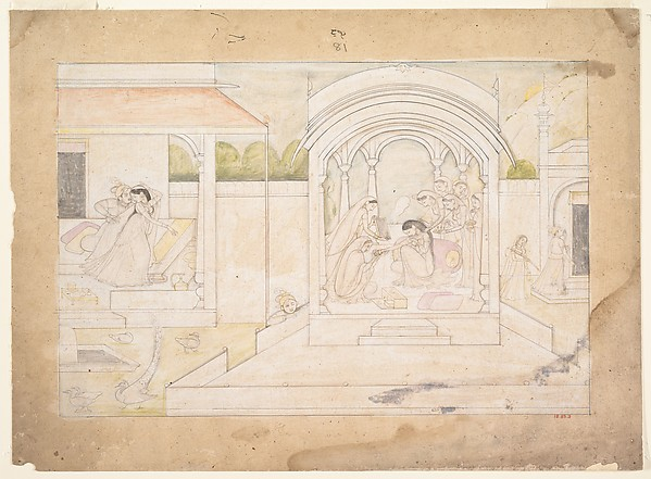 The Marital Bliss of Nala and Damayanti: Folio from a Nala-Damayanti Series