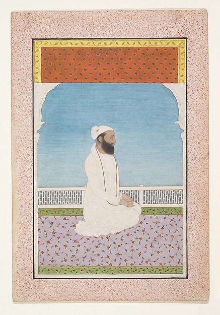 A Holy Man Seated on a Terrace
