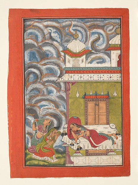 Andhrayaki Ragini: Folio from a ragamala series (Garland of Musical Modes)