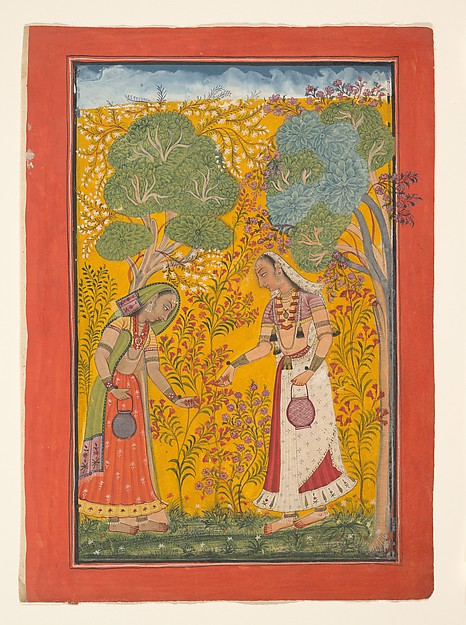 Vasanti Ragini, Folio from a ragamala series (Garland of Musical Modes)