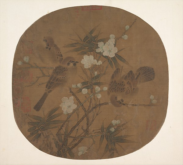 Sparrows, Plum Blossoms, and Bamboo