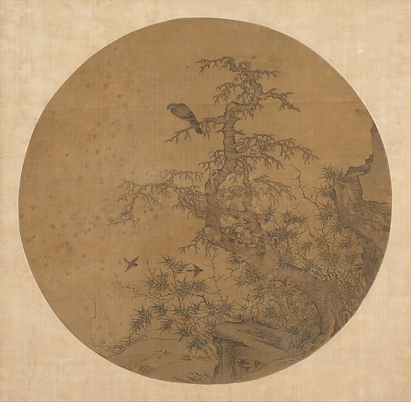 Old Tree, Bamboo, and Birds