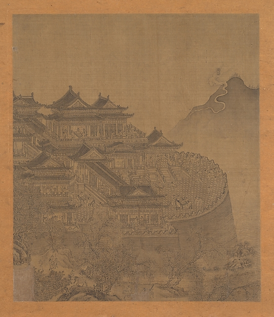 The Immortal Lü Dongbin Appearing over the Yueyang Pavilion