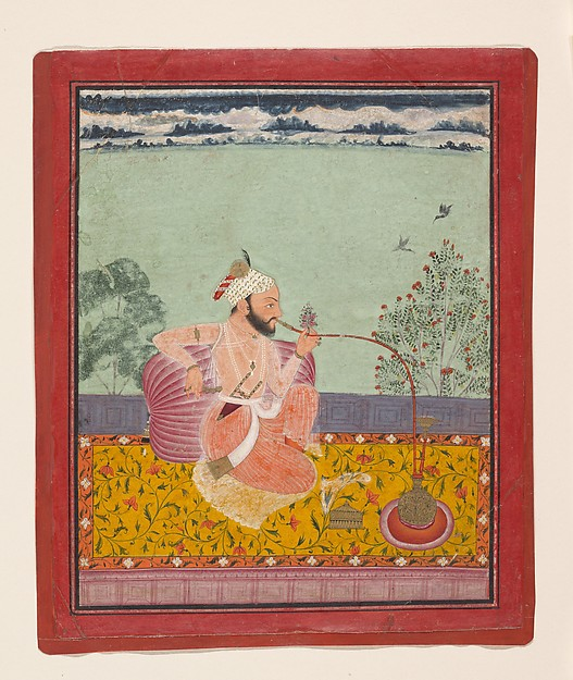 A Raja Smoking a Hookah