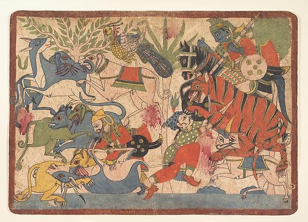 Royal Hunt:  Page from a Dispersed Mahabharata (Great Descendants of Mahabharata)