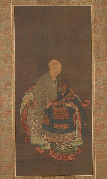 春屋妙葩像 自賛 <br/>Portrait of Shun'oku Myōha (1311–1388)