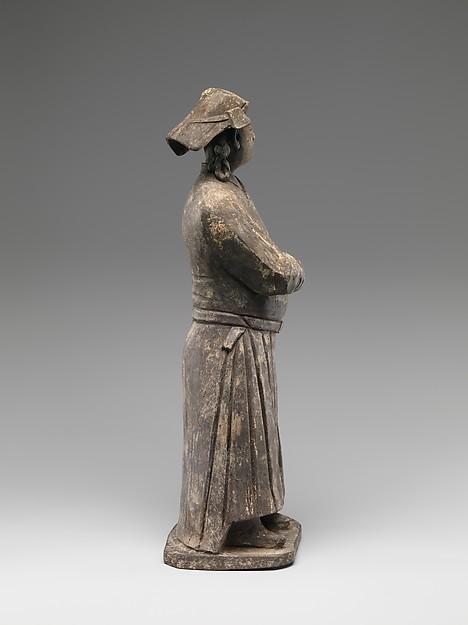 灰陶蒙古男俑<br/>Figure of Mongol