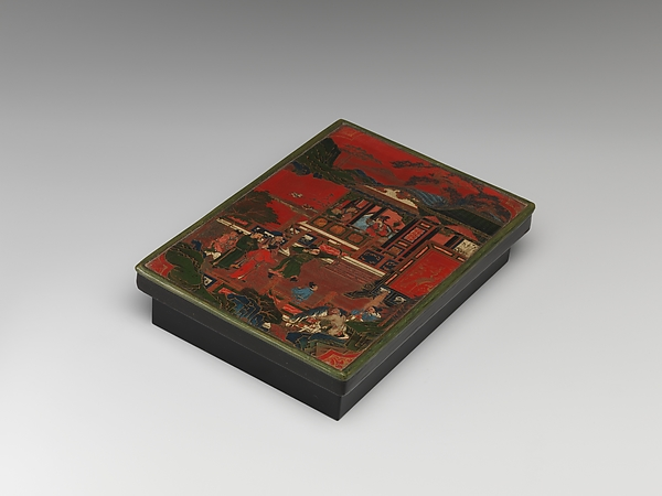 Box Lid with Competition Scene