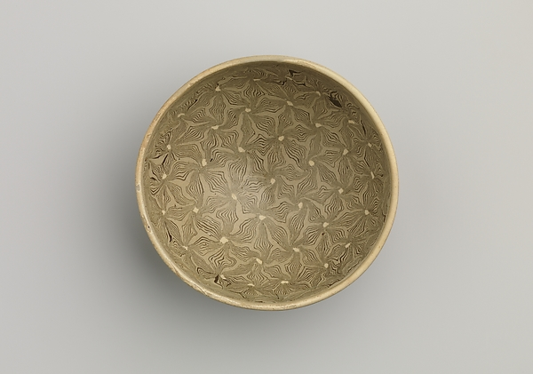 Tea Bowl with Marbleized Veneer
