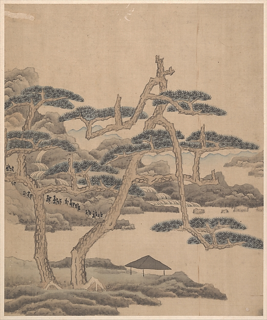明/清 陳洪綬、陳字 雜畫 冊 絹本<br/>Figures, flowers, and landscapes