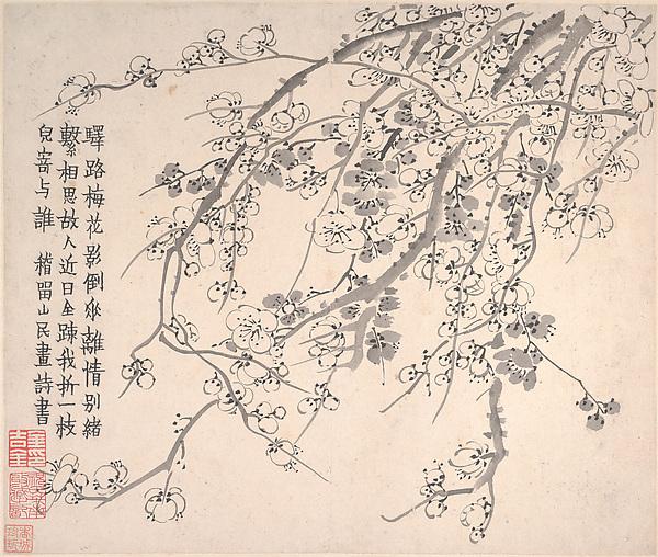 清   金農   梅花圖   冊<br/>Plum Blossoms