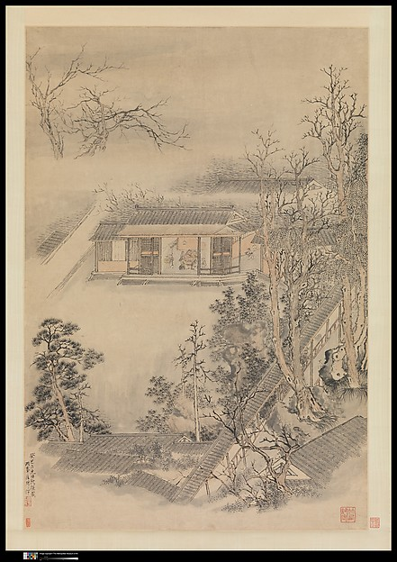 Fascinating Historical Picture of Luo Ping with Drinking in the Bamboo Garden in 1773