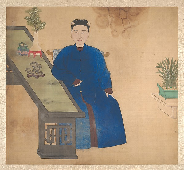 Portraits of members of a Manchu family