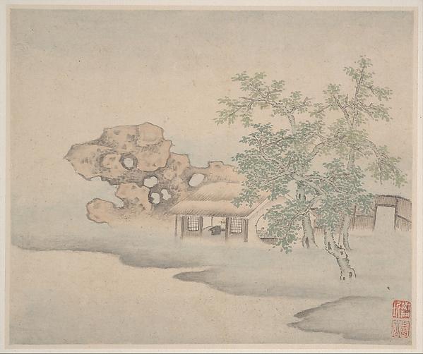 清 樊圻 山水圖 冊 紙本<br/>Landscapes