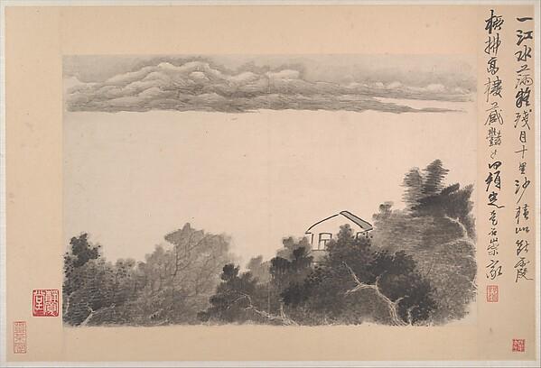 清   龔賢   自題 山水十六開   冊<br/>Ink Landscapes with Poems