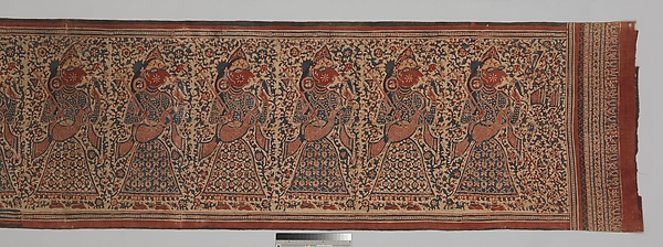 Painted Textile Depicting Celestial Musicians