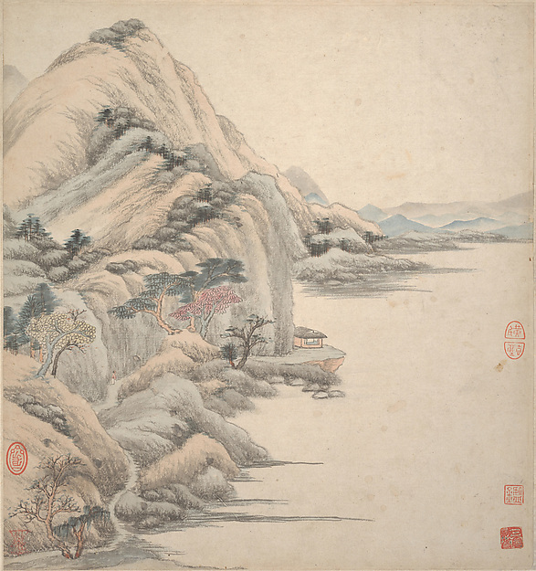Landscapes in the styles of ancient masters