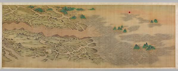 清  佚名  黃河萬里圖  卷<br/>Ten Thousand Miles along the Yellow River