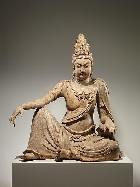 """水月觀音菩薩<br/>Bodhisattva Avalokiteshvara in """"Water Moon"""" Form (Shuiyue Guanyin)"""