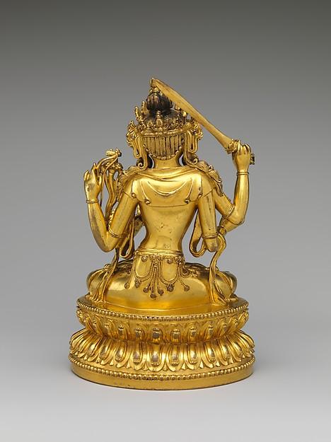 敏捷文殊<br/>Bodhisattva Manjushri as Tikshna-Manjushri (Minjie Wenshu)
