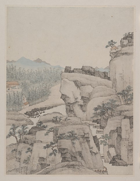 清  蕭雲從  山水圖  冊<br/>Landscapes