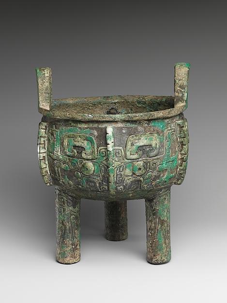 商青銅鼎<br/>Ritual Tripod Cauldron (Ding)