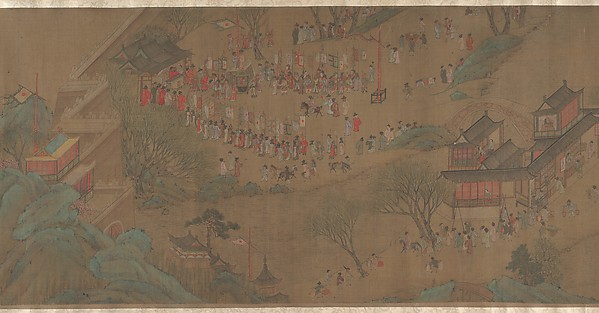 清 佚名 清明上河圖<br/>Going Upriver on the Qingming Festival