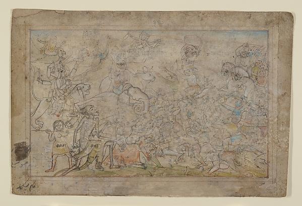 Battle Scene from a Devi Mahatmya