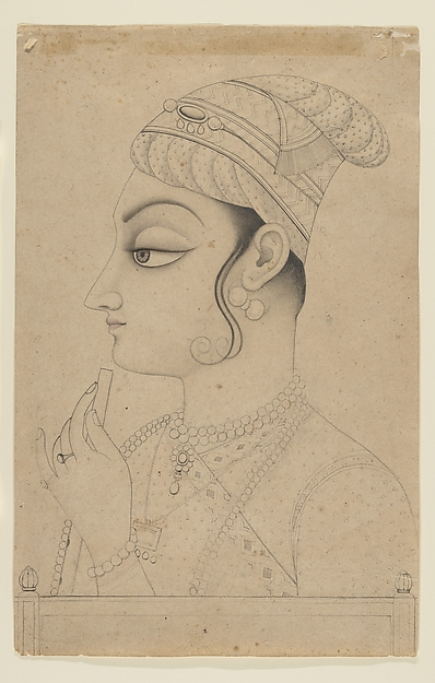 Woman Holding a Flute and Dressed as Krishna
