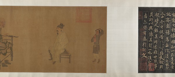 Xiao Yi Obtaining the Lanting Manuscript from the Monk Biancai