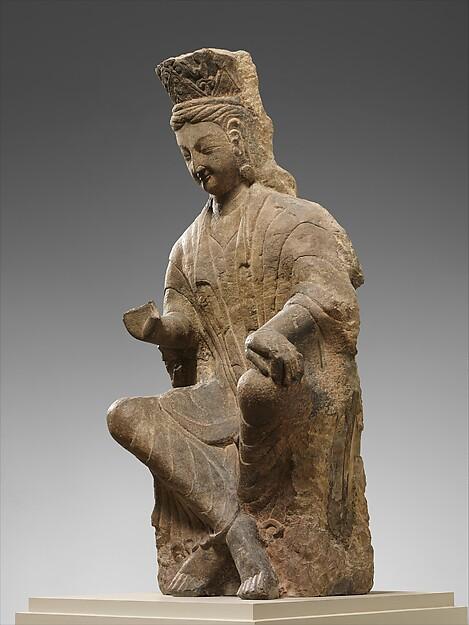 觀音菩薩<br/>Bodhisattva, probably Avalokiteshvara (Guanyin) with Crossed Ankles