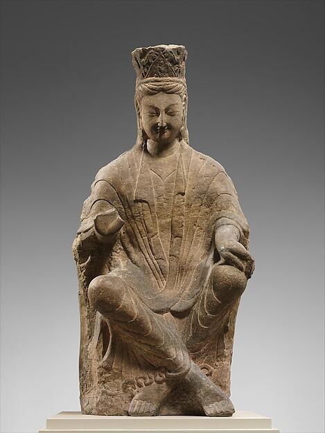 Bodhisattva, probably Avalokiteshvara (Guanyin) with Crossed Ankles