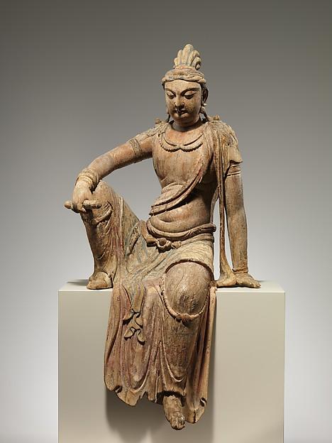 文殊菩薩<br/>Bodhisattva , probably Manjushri (Wenshu)