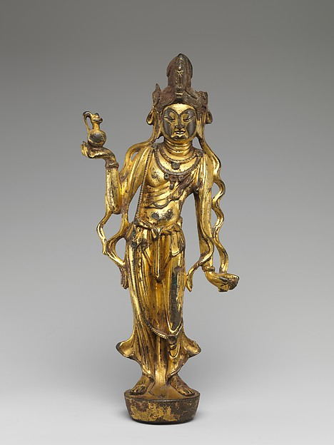 唐 青銅鎏金觀音菩薩像  <br/>Bodhisattva Avalokiteshvara (Guanyin)