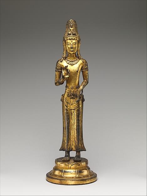 大理國(十二世紀) 青銅鎏金觀音菩薩像<br/>Bodhisattva Avalokiteshvara (Guanyin)