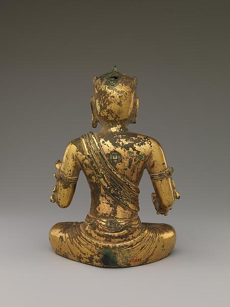 Manjushri, the Bodhisattva of Wisdom, with Five Knots of Hair (Wuji Wenshu 五髻文殊菩薩)