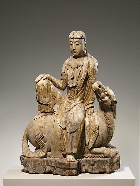 獅吼觀音菩薩 <br/>Bodhisattva Avalokiteshvara of the Lion's Roar, or Simhanada Avalokiteshvara (Shi Hou Guanyin)