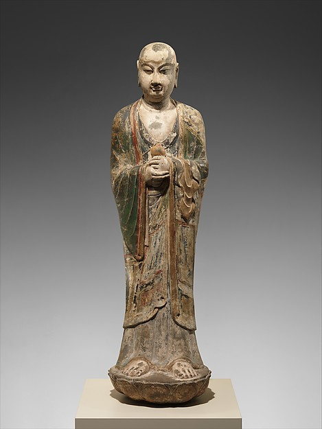 Monk, probably Ananda (Anantuo 阿難陀)<br/>Monk, probably Ananda (Anantuo)