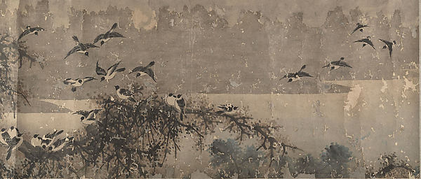Landscape with White-Breasted Crows