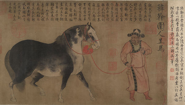 Stallion with Groom
