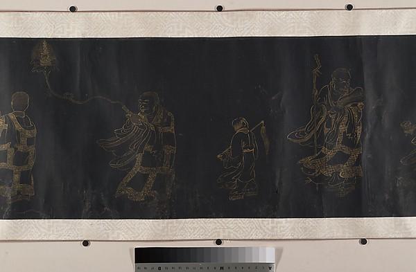 Buddhist Scroll: The Eighteen Luohans