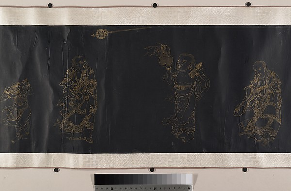Buddhist Scroll: The Eighteen Luohans