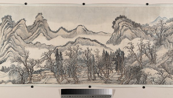 清  王翬  倣巨然燕文貴山水圖  卷<br/>Landscape in the Style of Juran and Yan Wengui