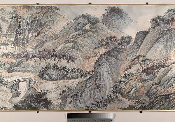 清  石濤(朱若極)  遊張公洞圖  卷<br/>Outing to Zhang Gong's Grotto